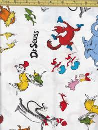 FAT Quarter DR Seuss Fabric Tossed Characters White | eBay ... & FAT Quarter DR Seuss Fabric Tossed Characters White | eBay | Quilting -  Fabric | Pinterest | Dr seuss fabric and Fat quarters Adamdwight.com