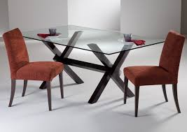 dining room great concept glass dining table. Fabulous Dining Room Concept: Brilliant Modern Dark Wood Table Glass Legs Seats 6 To Great Concept P