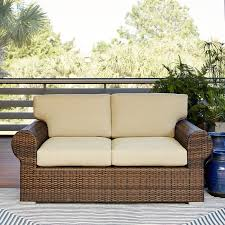 Brookhaven Wicker Loveseat with Cushions & Reviews