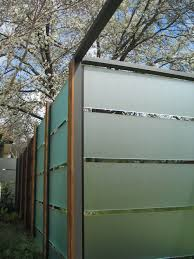 frosted fence panels tempered glass fence panels