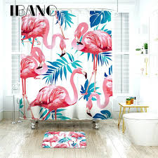 flamingo bathroom accessories source a tropical pattern shower curtain waterproof polyester set bathroom enchanting pink flamingo bath accessory sets