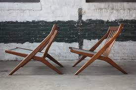 1960s hypnotic folke ohlsson swedish mid century modern scissor lounge chairs for dux sweden 1960s