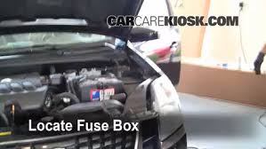 replace a fuse nissan sentra nissan sentra s  locate engine fuse box and remove cover