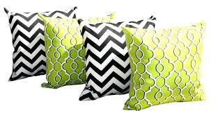 black outdoor pillows lime green couch modern style with and throw pillow large