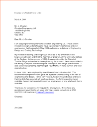 Sample Resume Cover Letter For College Students New College Student
