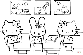 Small Picture Hello Kitty Back to School coloring page Free Printable Coloring