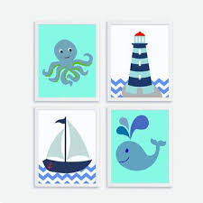 wall stickers home decor sailboat lighthouse