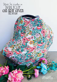 stretchy baby car seat cover pattern