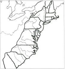 original  colonies coloring page outline onlyno words