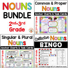 Singular And Plural Nouns Chart Common And Proper Nouns Singular Nouns Plural And Collective Nouns Bundle