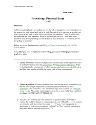 Topics For Proposing A Solution Essay Prewriting Proposing A Solution Essay