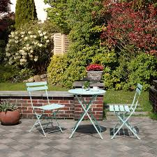 Black <b>3 Piece</b> Patio Set of <b>Foldable</b> Patio Table and Chairs <b>Folding</b> ...