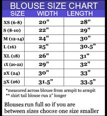 Standard Measurement Chart For Blouse Blouse Size Chart Foto Blouse And Pocket Fensterdicht Com