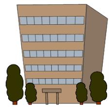 建物やビルのイラスト、フリー