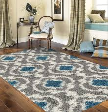 3x5 area rugs com rug cozy moroccan trellis indoor area rug 53 73 gray turquoise kitchen dining