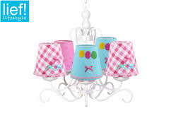Kinder Kronleuchter Weiss Lampenschirme Bunt Hänge