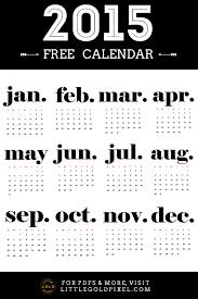 Free Minimalist 2015 Calendar Printable Little Gold Pixel