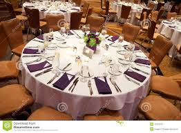 Laid Wedding Table Stock Image Image Of Bouquet Inside 16123257