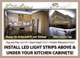 install led light strips under kitchen cabinets