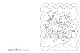 happy birthday card printable free happy birthday card printable coloring pages coloring birthday cards