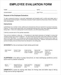 Simple Employee Review 9 Employee Review Forms Free Sample Example Format