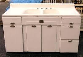 metalold metal kitchen sink cabinet vintage meetly co complete