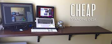 Cheap Stand Up Desk Astound Standing DIY Solution For Work Whirl Sites Home  Design Ideas 2