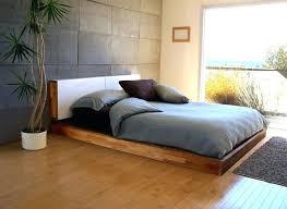 White Low Profile Platform Bed Low Platform Bed Queen Low Bed Frames ...