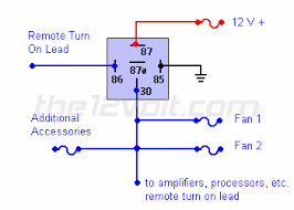 switch relay wiring diagram special applications spdt relays connecting additional devices to the remote turn on wire diagram