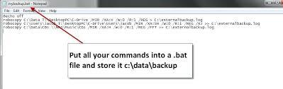 robocopy resume backup script using robocopy log resume