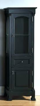 tall black cabinet display small storage medium size of with doors ikea glass furniture awesome single