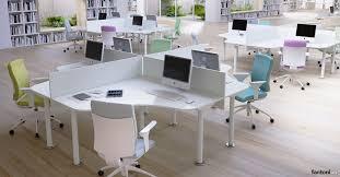 curved office desks. Framework Curved Office Desk For Four People Desks