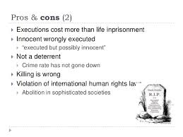 pro and con essay on death penalty pros and cons of death penalty law teacher