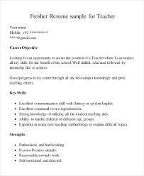 Fresher Teacher Resume Format Pdf 23 Recent For Computer Teachers