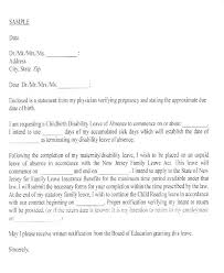 Letter For Absence Maternity Leave Application Request Letter Absence Template Excuse