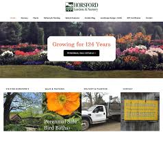 Horsford Gardens And Nursery Alpine Vermont Web Design VT Simple Garden Web Design Design