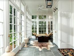 Eclectic Entryway with soapstone tile floors & flush light ...