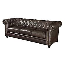 brown tufted sofa. Exellent Tufted Bowery Hill Faux Leather Button Tufted Sofa In Dark Brown To