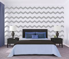 image of chevron wall decal for bedroom