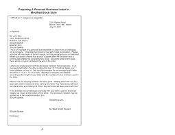 Block Form Business Letter Modified Block Form Business Letter Example Ideas Of A In Style For