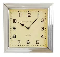 cozy square wall clock large  square vintage wall clock regatta