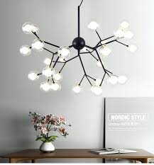 modern led firefly pendant lights fixture flower tree branch home indoor dining room restaurant parlor lighting tree branch light