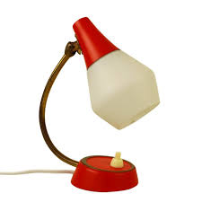 small red table lamp 1950s