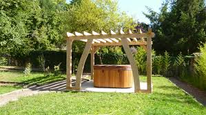 Outdoor Jacuzzi Pergola For Outdoor Jacuzzi Oak Timber Framing Carpentry In France