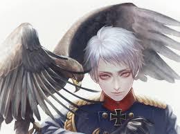 anime anime guy prussia eagle bird