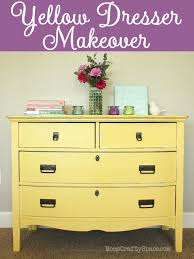 painted vintage furnitureYellow Painted Vintage Dresser Makeover  Happiness is Homemade