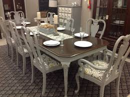 stunning dinning room table in grey mist by rethunk junk by laura furniture paint