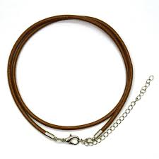 18 brown leather cord necklace 8 pack