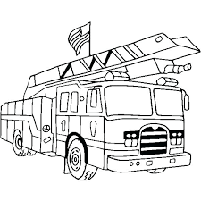 Fire Truck Coloring Page Trucks Pages Free Seaahco