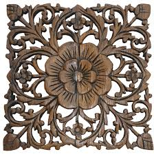 small carved wood wall plaque rustic fl wood wall decor wall art panel 12